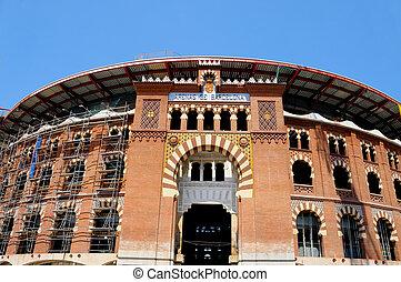 Barcelona bullring, Spain - view of bullring Arenas de...