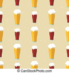 beer glass seamless pattern