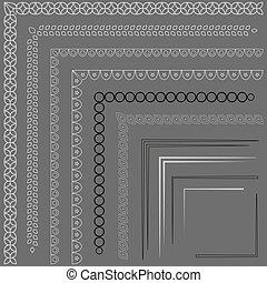Set of decorative frames. . Pattern border pack.