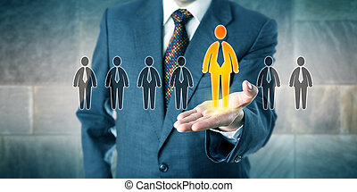 Successful Candidate Standing Out In A Palm - Successful...