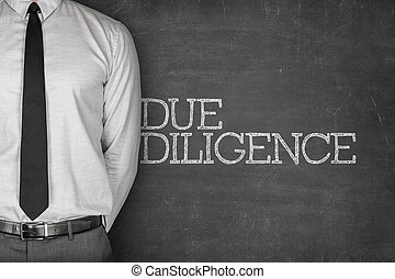 Due diligence text on blackboard - Accounting concept on...