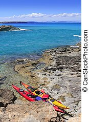Escalo Formentera kayak mediterranean sea Balearic islands