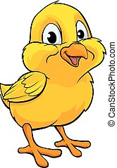Cartoon Easter Chick - A cartoon yellow Easter chick baby...
