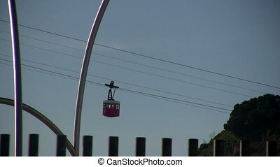 Cableway, Barcelona - View in a sunny day