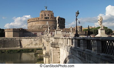 Castel Sant\\\'Angelo, Rome - Time lapse