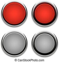 button chrome abstract vector illustration eps 10