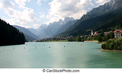 Lake, time lapse - Dolomites, Italy