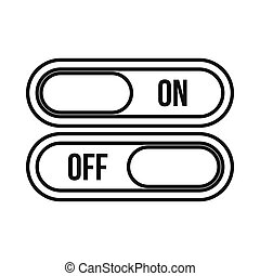 On and Off buttons icon, outline style