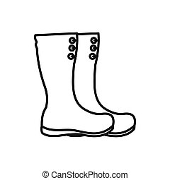 Galoshes Vector Clipart Royalty Free. 276 Galoshes clip ...