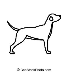 Hunting dog icon, outline style - Hunting dog icon in...