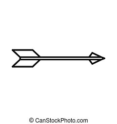 Bow arrow right icon, outline style - Bow arrow right icon...