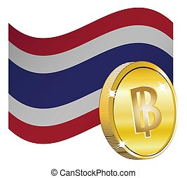Currency Sign over Flag
