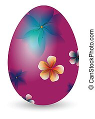 patterned Easter Eggs and bunnies