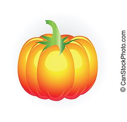 Pumpkin icon isolated on white