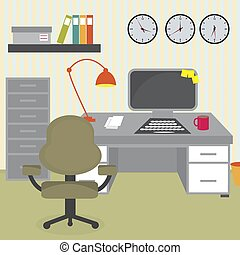 オフィス, 机