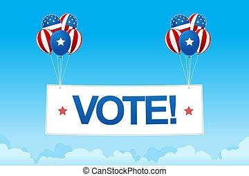 投票, 气球, 圖像, 旗幟, 數字