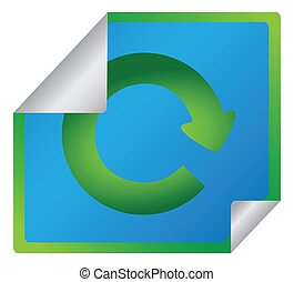 Eco friendly green recycle symbol