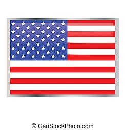 US july 4th independence icons
