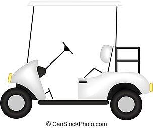 image of a golf car