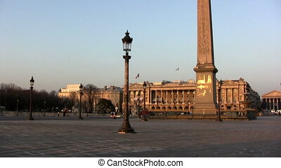 Place de la Concorde, Paris - View at sunset