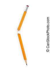 Broken Pencil with white background