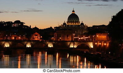 Saint Peter Basilica, Rome - Time lapse at sunset