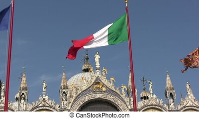 Italian Flag - Saint Mark Square, Venice