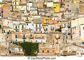 Detailed view of Ragusa Ibla - Detailed view of the old town...