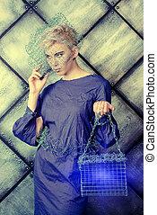 avant-garde model - Avant-garde. Fashionable designer...