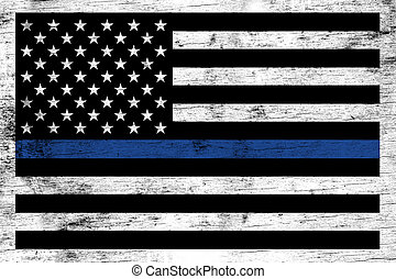 Police Law Enforcement Support Flag Background - A police...
