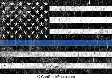 Law Enforcement Police Support Flag - A law enforcement...