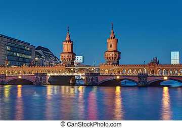 The Oberbaumbridge in Berlin - The famous Oberbaumbridge in...