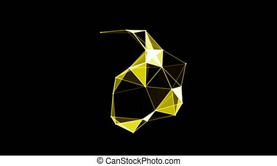 A ring of abstract plexus shapes. Seamless loop