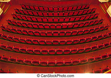 Cinema / theater seats, Red seats in theater