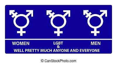 Geschlecht,  Neutral, badezimmer, zeichen