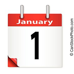 Date January 1st - A calender date offering the 1st January