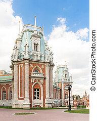 Towers of Tsaritsyno palace - Towers ofTsaritsyno Palace in...