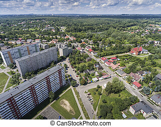 Typical socialist block of flats in Poland East Europe View...