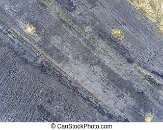 Coal mine in south of Poland. Destroyed land. View from...