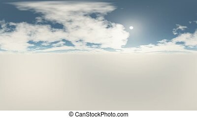 360 degree Panoramic Sky and Clouds ready for use in 3D...