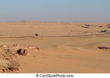 The Sahara desert in Sudan