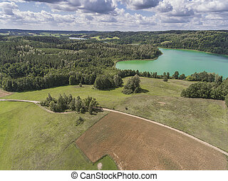 Suwalki Landscape Park, Poland Summer time View from above...