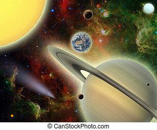 nosso, parte, sistema,  solar