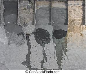 marrón, minería, colores, carbón, almacenamiento, mina, superficie, sobre,  industrial, Plano de fondo,  diferent, lugar, minerales, vista