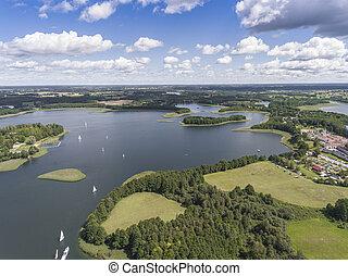 Lake Wigry National Park. Suwalszczyzna, Poland. Blue water...