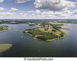 Lake Wigry National Park Suwalszczyzna, Poland Blue water...