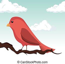 cute ornamental bird icon