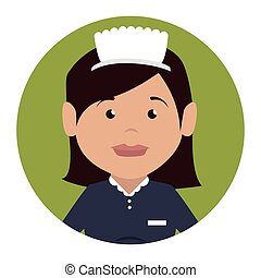 housekeeper service hotel isolated icon vector illustration...