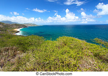 Coastline of St Kitts - The fabulous coastline of St Kitts.