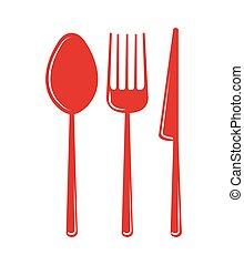 set utensils kitchen icon